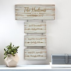 Building Our Family Wood Wall Art