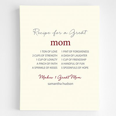 A Great Recipe Canvas Wall Art