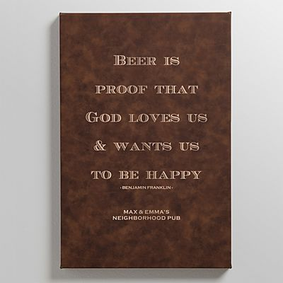 Bar Quotes Leather Wall Art