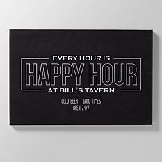 Happy Hour Leather Wall Art