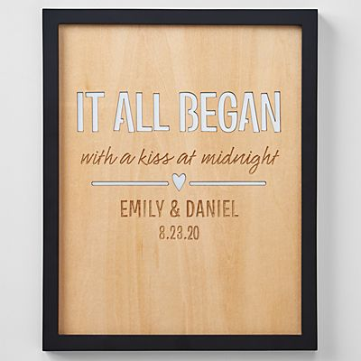 Where It All Began Engraved Wood Framed Art