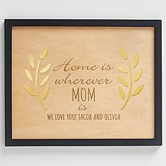 Home is Wherever You Are Engraved Wood Wall Art