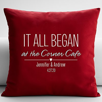 Where It All Began Throw Pillow - Red - 18X18