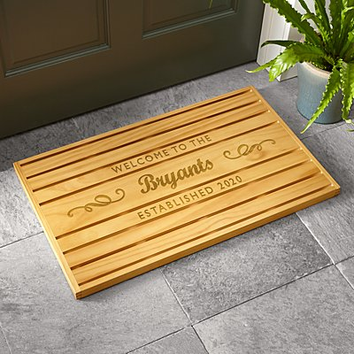 Welcome Wooden Doormat