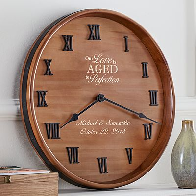 Anniversary Wine Barrel Clock