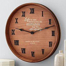 When Minutes Turn to Moments Wine Barrel Clock
