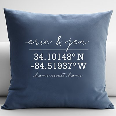 Our Home Coordinates Throw Pillow