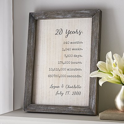 Still Counting the Days Barnwood Framed Art