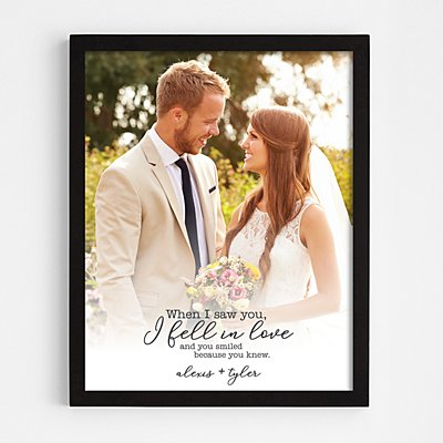 When We Fell in Love Framed Print