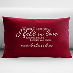 When We Fell In Love Throw Pillow