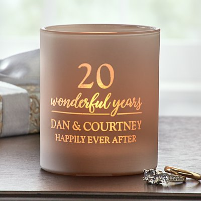 Wonderful Years Anniversary LED Candle