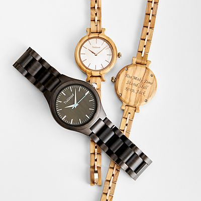 Couple's Wooden Watch Set