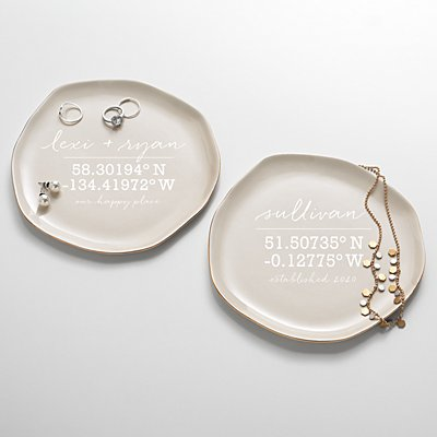 Our Home Coordinates Ceramic Catchall