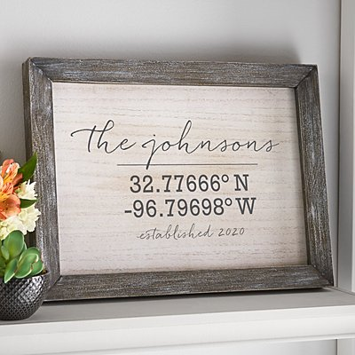 Our Home Coordinates Barnwood Framed Art