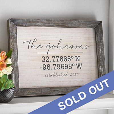 Our Home Coordinates Farmwood Framed Art