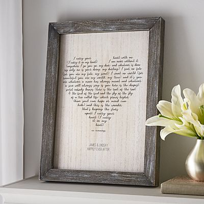 Carry You In My Heart Barnwood Framed Art