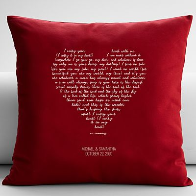 Carry You in My Heart Throw Pillow