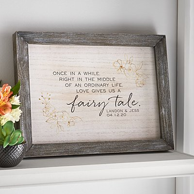 Love Gave Us a Fairytale Barnwood Framed Art