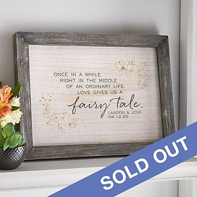 Love Gave Us a Fairytale Farmwood Framed Art