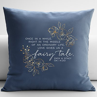 Love Gave Us a Fairytale Throw Pillow