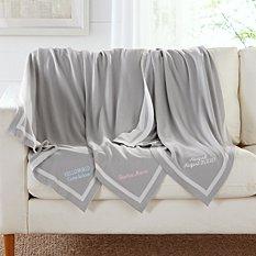 Cotton Knit Keepsake Baby Blanket