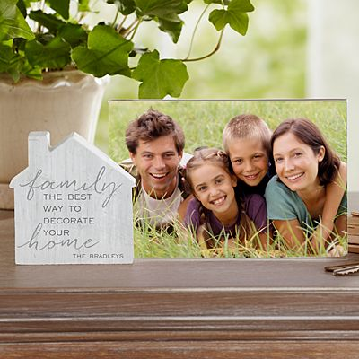 Decorate with Family Wooden House Frame