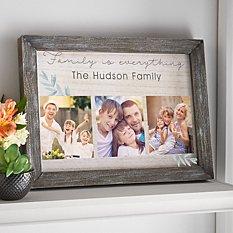 Family is Everything Barnwood Framed Art