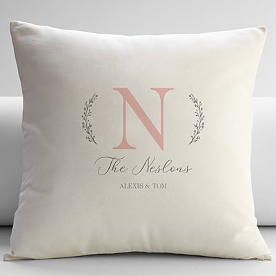 Name and Initial Throw Pillow