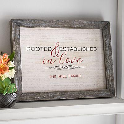 Rooted in Love Barnwood Framed Art