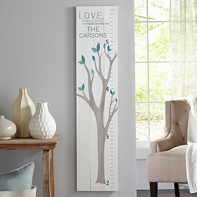 Wooden Family Growth Charts