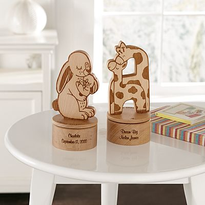 Wood Animal Keepsake Music Box