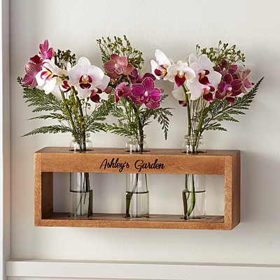 Wooden Bud Vase Holder