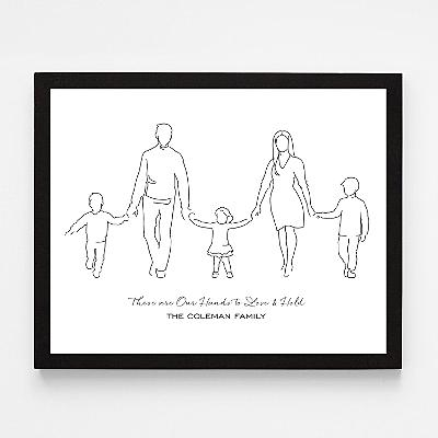 Family Silhouette Wall Art