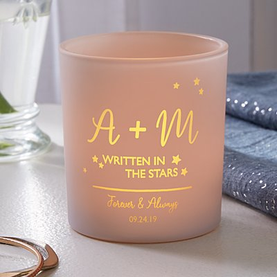 Written In the Stars Engraved Candle