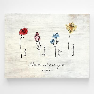 Family of Flowers Wall Art