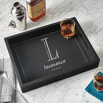 Name + Monogram Bar Tray