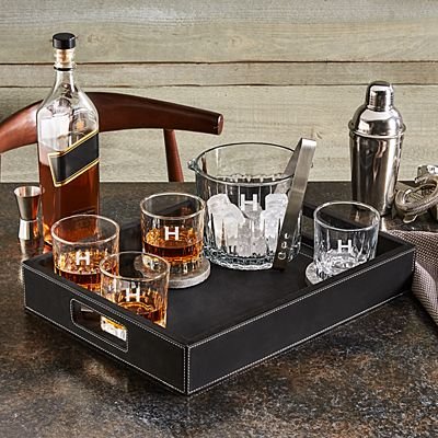 Whiskey Entertaining Set + Bar Tray