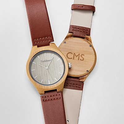 Wood + Leather Watch