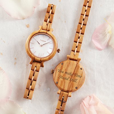 Rose Gold Wooden Watch