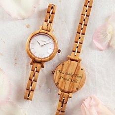 Rose Gold Wooden Watch