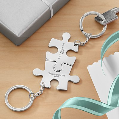 Perfect Fit Puzzle Key Chain Set