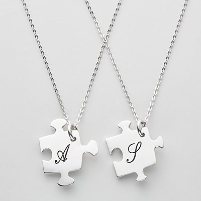 Piece of Me Puzzle Necklace Set
