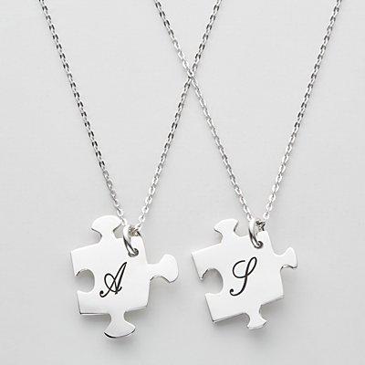 Piece of Me Puzzle Necklace Set