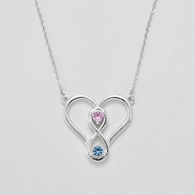 Two Become One Birthstone Necklace