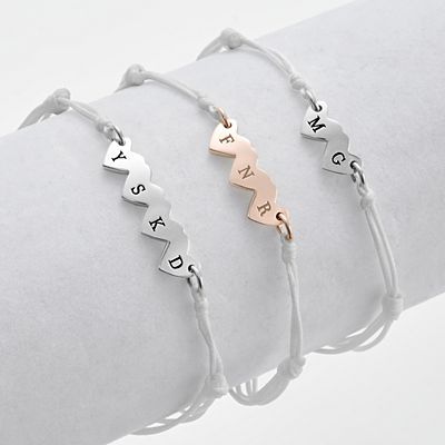 Just the Girls Initial Bracelet Set