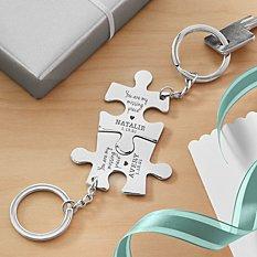 Missing Piece Puzzle Key Chain Set