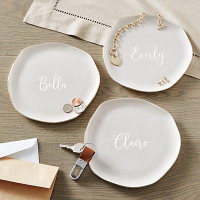 Name + Initial Ceramic Catchall Set
