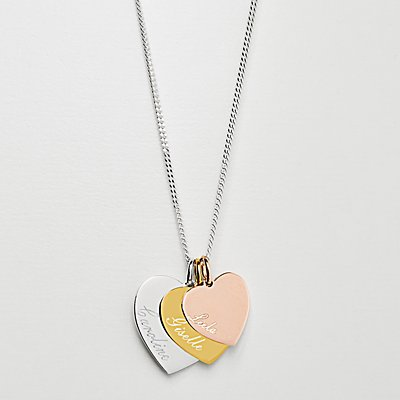 Heart + Name Stacked Necklace