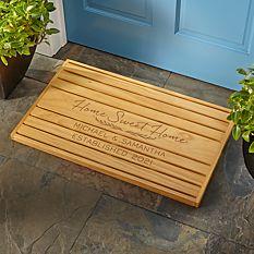 Home Sweet Home Wooden Doormat