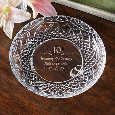 Galway Crystal Anniversary Plate